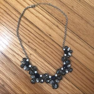 Forever21 Blue Jeweled Statement Necklace